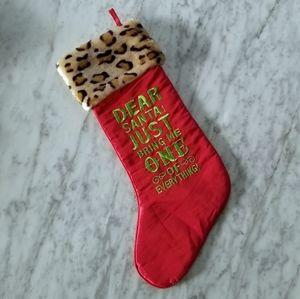 """Grassland Roads """"Dear Santa.."""" Stocking"""